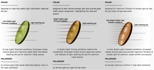 Drivewear Optik Tunggal Chart